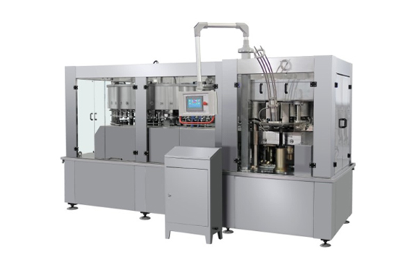 High Speed Production Line Packaging Juice Can And Seaming 18 Heads Aluminium Can Filling Machine